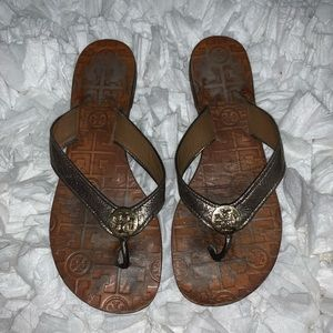 well loved Tory Burch Thora sandals